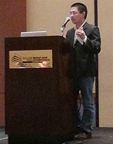 Cuong Pham presents his research during DSN 2014.