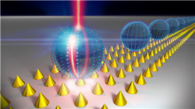 Hybrid optoplasmonic system showing the operation of amplification.