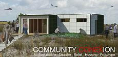 Community Conexion, the Illinois entry in the 2011 Solar Decathlon, is intended to help re-establish communities and provide aid during a disaster-relief effort.