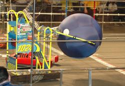 Part of the FIRST Robotics competition involved manipulating 40-inch diameter balls.