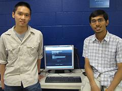 Jerry Yang (left) and Pallav Pathak created an interactive, very low cost online lecture system through PURE during the spring 2010 semester.