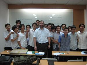 Illinois recently signed an agreement with Ho Chi Minh City University of Technology to share curriculum and foster exchange programs between the universities, such as a two-week course taught by ECE Associate Professor Steve Lumetta (pictured here with his students). Lumetta says the partnership will allow Vietnamese students to cultivate innovation and will help American students to learn how to succeed in a global marketplace.