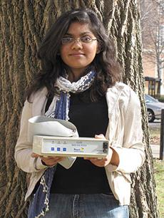 ECE junior Ekta Shah designed a PCB tester that is now being sold by her father's technology company in India.