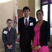 Gloria See, Anthony Shvets, and Jasmine Hunt, legislative assistant to Sen. Dick Durbin.