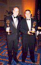 Willson and Bitzer after they received the Scientific and Technological Emmy Award.