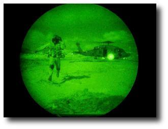 Improvements in infrared detectors, currently under investigation by ECE researchers, could lead to significant improvements in military applications like night vision. (Photo courtesy of the US Navy.)
