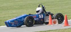 The Illinois Formula SAE car competes at the Virginia International Raceway.